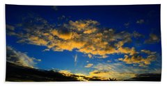 Beach Towel featuring the photograph Mysterious Sunset by Mark Blauhoefer