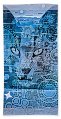 Mystery Cat  Beach Towel