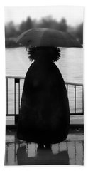 Beach Towel featuring the photograph Lady At The Lake by Aaron Berg