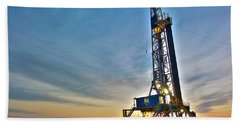 Beach Sheet featuring the photograph Nabors Rig In West Texas by Lanita Williams