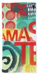 Namaste- Contemporary Abstract Art Beach Towel