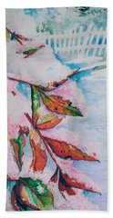 Nandina In Snow Beach Towel