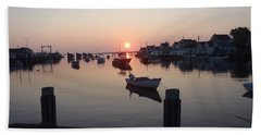 Beach Towel featuring the photograph Nantucket Sunrise 1 by Robert Nickologianis