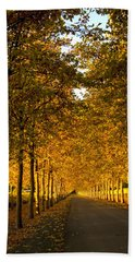 Napa Valley Fall Beach Sheet by Bill Gallagher