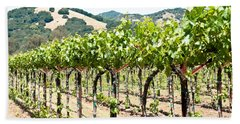 Napa Vineyard Grapes Beach Towel