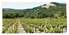 Napa Vineyard With Hills Beach Towel