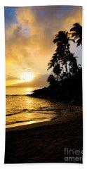 Napili Sunset Evening  Beach Towel by Kelly Wade