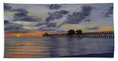 Naples Pier Naples Florida Beach Towel