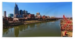 Nashville Skyline  Beach Towel by Dan Sproul