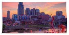 Nashville Sunset Beach Towel