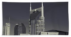 Nashville Tennessee Batman Building Beach Towel by Dan Sproul