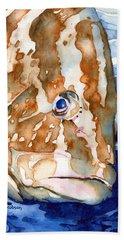 Nassau Grouper Portrait Beach Sheet