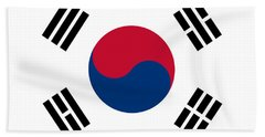 National Flag Of South Korea Authentic  Beach Sheet