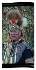 Native American Portrait Beach Sheet