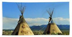 Native American Teepees  Beach Sheet