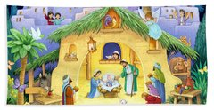 Nativity For Children Beach Towel