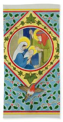 Nativity Wc On Paper Beach Towel