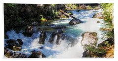 Beach Towel featuring the photograph Natural Bridges by Melanie Lankford Photography