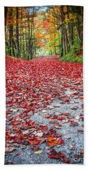Nature's Red Carpet Beach Towel