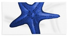 Nautical Blue Starfish Beach Towel