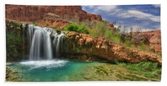 Navajo Falls Beach Towel