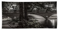 Navarro Street Bridge At Night Beach Towel
