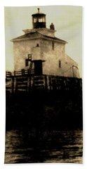 Navy Island Bar Lighthouse 2 Beach Towel