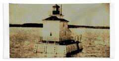Navy Island Bar Lighthouse Beach Towel
