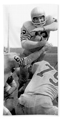 Navy Quarterback Staubach Beach Towel by Underwood Archives