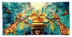 Near Reflections Beach Towel by Ally  White