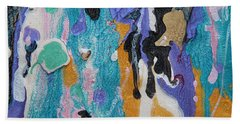 Near Sea Colorful Abstract Painting Beach Towel