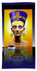 Nefertiti  The  Beautiful Beach Towel by Hartmut Jager