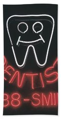 Neon Smile Beach Towel by Caitlyn  Grasso