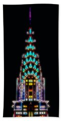 Neon Spires Beach Towel