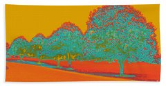Neon Trees In The Fall Beach Towel