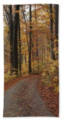 New Autumn Trails Beach Towel