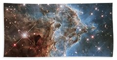 New Hubble Image Of Ngc 2174 Beach Towel