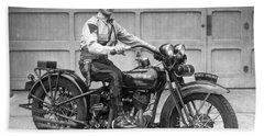 New Jersey Motorcycle Trooper Beach Sheet