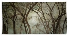 New Mexico Winter Woodland Beach Towel by Andrea Hazel Ihlefeld