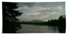 Beach Towel featuring the photograph New Morning On Lake Umbagog  by Neal Eslinger