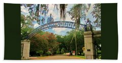 New Orleans City Park - Pizzati Gate Entrance Beach Sheet
