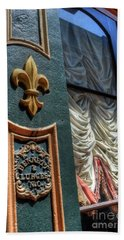 Beach Towel featuring the photograph New Orleans Fleur-de-lis by Timothy Lowry