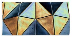 Pop Art Abstract Art Geometric Shapes Beach Sheet