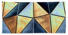 Pop Art Abstract Art Geometric Shapes Beach Towel