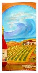 New Wine  Joel 2 Beach Towel