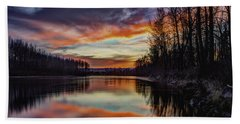 New Years Eve Sunset Beach Towel