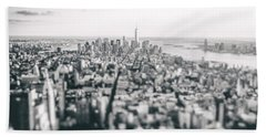 New York City - Above The Rooftops Beach Towel
