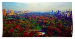 New York City Central Park South Beach Towel