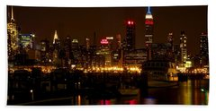 Beach Towel featuring the photograph New York City by Dave Files