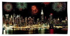 New York City Fourth Of July Beach Sheet